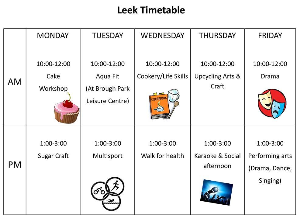 Leek Timetable